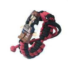 Bracelet Building Blocks Figures Starwars Superheroes Pirates Of The Caribbean Jack Sparrow Diy Toys For Children Gifts new arrival gudi 9115 pirates of the caribbean series black pearl jack sparrow figure building block toys