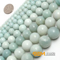 """8mm 10mm 12mm round blue Amazonite Beads Natural Stone Beads DIY loose Beads For jewelry making Making Strand 15"""" Wholesale!"""