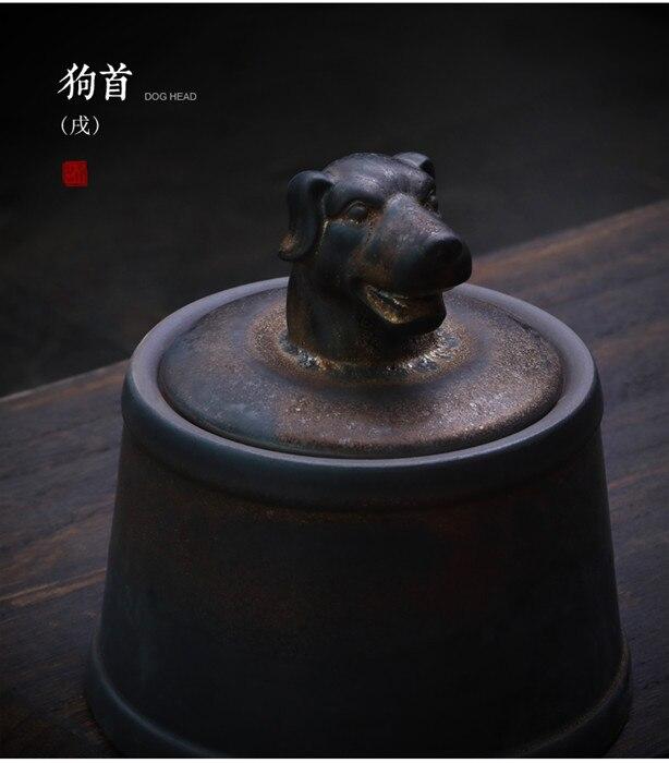 Прах питомца кремации держатель урны собака в память о кошке шкатулка животное на память о похоронах Hond 500 г большой емкости свинья лошадь OXCaskets - Цвет: Dog Head