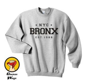 Nyc Bronx Est. Мужская рубашка с принтом в Нью-Йорк, уличная халява со звездным иконом, топ с вырезом лодочкой, толстовка унисекс, много цветов, XS - ...