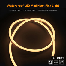 Hiht qulity AC110-220V IP68 Waterproof 120LED/M flexible neon strip light for Outdoor building shop decoration illumination bar
