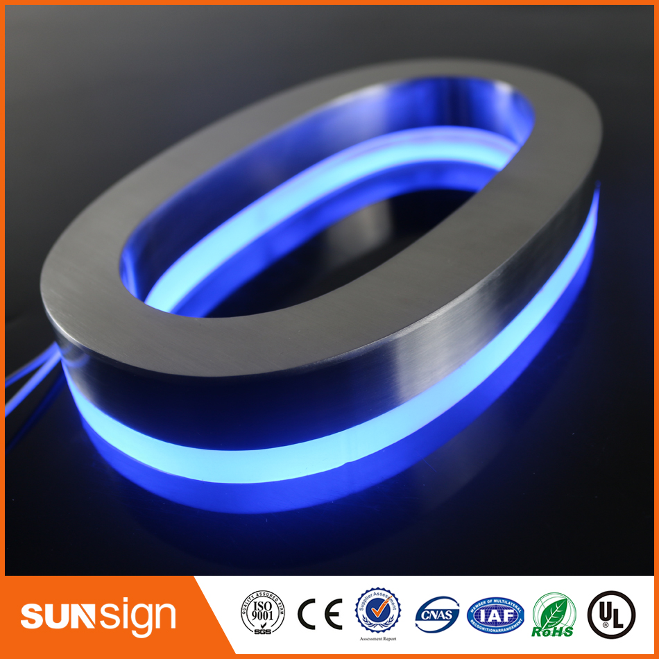 Outdoor Illuminated Halo Lit Led Channel Letter Signs