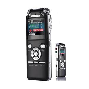 Image 4 - Dyktafon cyfrowy podwójne mikrofony inteligentna redukcja szumów rejestrator dźwięku USB akumulator 8GB pamięci Mp3 WMV
