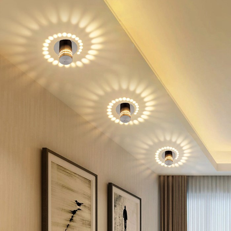 3 W Led Integre Variole Modelisation Lumiere Moderne Plafonnier Spot
