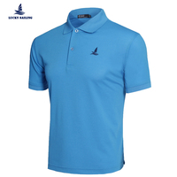 New Arrivals Brand Lucky Sailing Embroidery Boat Logo Undershirt Cotton Camisa Polo Shirt For Men Clothing