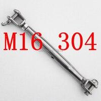M16 Jaw & Jaw Authentique SS 304 En Acier Inoxydable Fourgon Jaw Turnbuckle Réglez La Chaîne Gréement