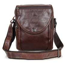 Coffee Color Vintage 100% Guarantee Real Skin Genuine Leather Cowhide Small Men Messenger Bags Ipad Bag #M7354L