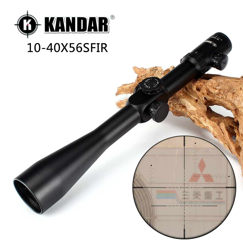 KANDAR 10-40x56 SFIR Hunting Shooting Rifle Scope Glass Etched Side Parallax R/G Illuminated Riflescope with Two Styles Rings весы jkw 40 x 10 g dps1