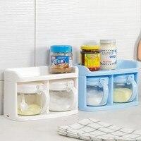 Free envio gratuito de multi funcional de vidro caixa de tempero tempero tanque garrafa de vidro de tempero 2 pçs/set 450 ml