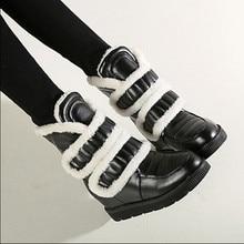 Plus Size34-43 2016 New Shoes Women Boots black Waterproof Platforms Shoes 3 Colors Winter Full Fur Women's Snow Boots
