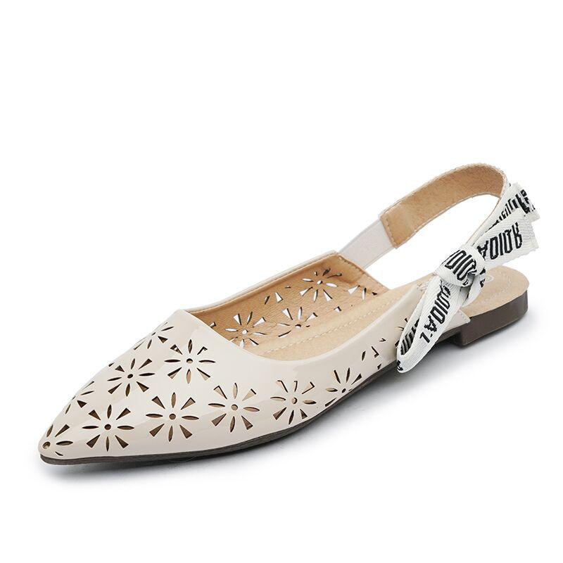 Señaló Bajo Nueva Calado 1ckfjtl Zapatos Planos Punta Sandalias Mujeres NXwOkZ8n0P