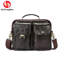Man Genuine Leather Bags Cow Crossbody Shoulder Handbags Travel Tool Tote Purses Business Mens Hand
