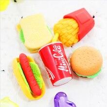 Ластик для моделирования пищи Cola Гамбург резиновый ластик креативный kawaii канцелярские принадлежности Школьные принадлежности papelaria подарок для детей
