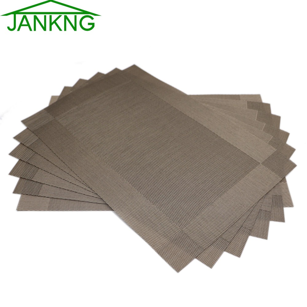 Pvc Placemats Us 14 56 40 Off Jankng 6 Pcs Lot Home Decor Pvc Placemats Woven Vinyl Place Mats Coasters For Kitchen Dinner Table Pad Heat Resistant Placemats In