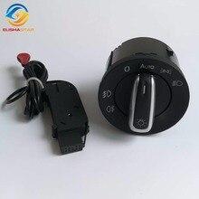 ELISHASTAR Włącznik Reflektorów i Reflektorów Przełącznik Czujnika Do VW Golf 5 6 MK5 MK6 Tiguan Passat B6 B7 CC Touran Jetta 5ND941431B
