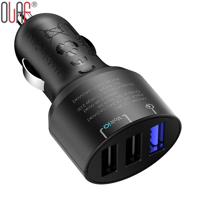 Tronsmart Qualcomm Certified CC3PC 3 Ports Quick Charge 2 0 USB Car Charger QC2 0 Turbo