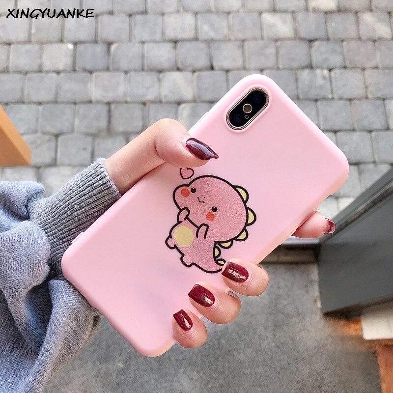 Silicone Slim Case For Xiaomi Redmi Note 3 4 4X 5 5A 6 7 8 Pro 3S 4A 4X 6 6A S2 Plus 7A Case Cute Cartoon Dinosaur Cover
