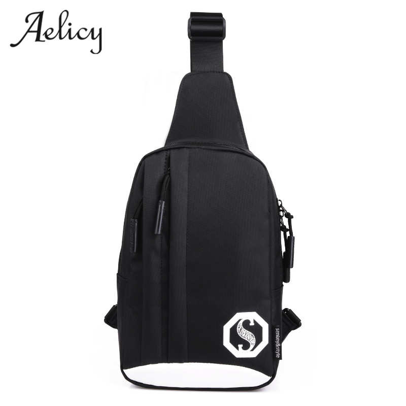Aelicy luxury Oxford Noctilucent Men Chest Pack Single Shoulder Strap Back Bag Crossbody Bag for Men Sling Shoulder Bag designer ...