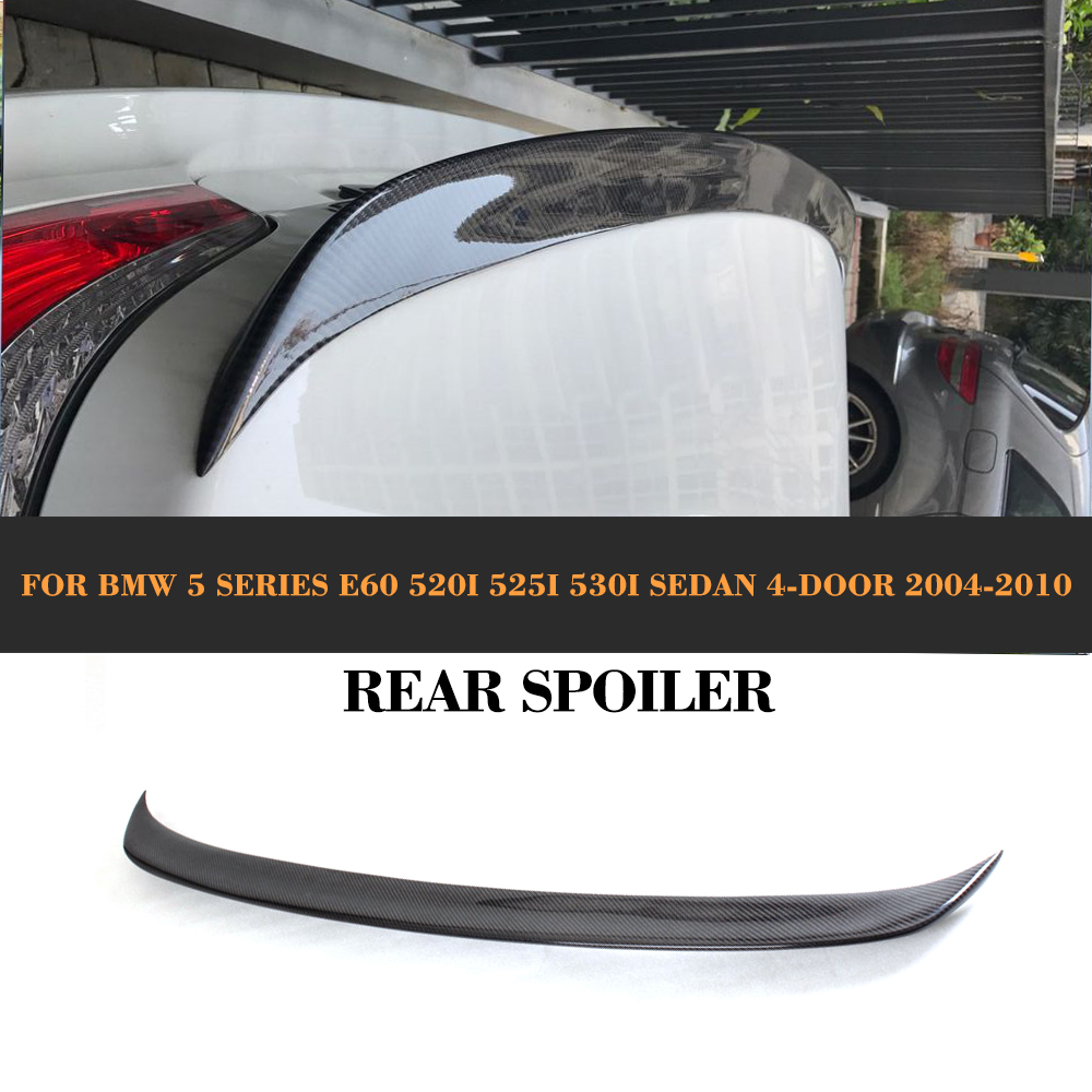 Carbon Fiber Rear Lip wing for BMW 5 Series E60 520i 525i 530i Sedan 4-Door 2004-2010 front rider foot pegs brackets for honda cbr1000rr cbr 1000 cbr1000 rr 2008 2009 2010 2011 2012 2013 2014 2015 black