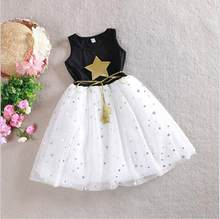 e35b7982ee8 Girls Dress 2018 Summer 2 3 4 5 6 7 9 10 11 12 Years Sequins Star Kids  Casual Clothes Children s Party Costume Cute Girl Dresses