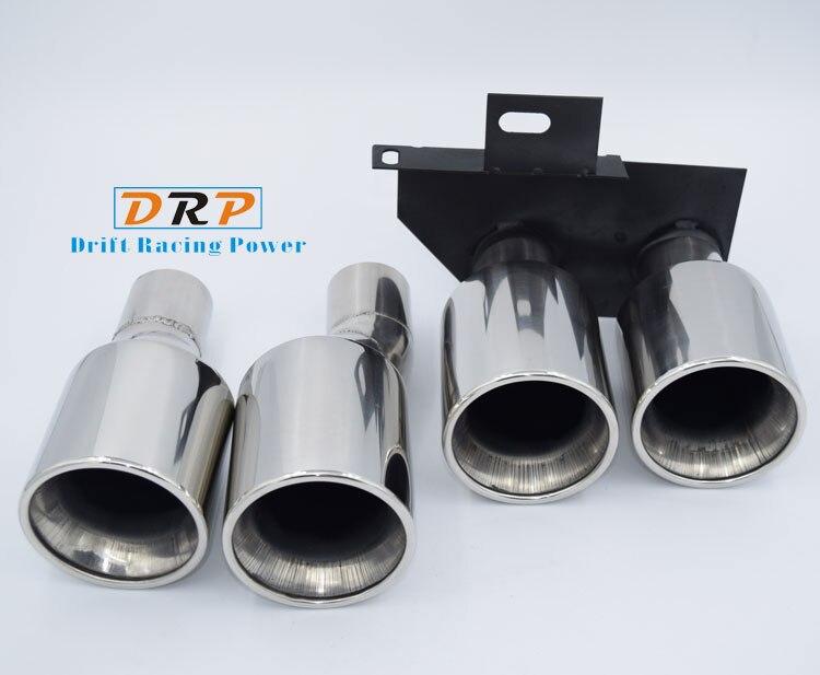 Высокое качество 1-2 двойной трубы из нержавеющей стали Silve покрытие модифицированный автомобиль задний хвост горло для BMW E60, f10, M5, 520,523,525,528,530