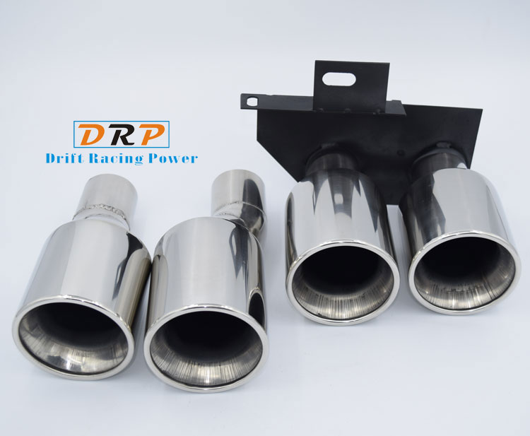 High quality 1 to 2 Dual Pipe stainless steel Silve plating Modified Car Rear Tail Throat for BMW E60,F10,M5,520,523,525,528,530 high quality 1 to 2 dual pipe stainless steel modified car rear tail throat for bmw 640