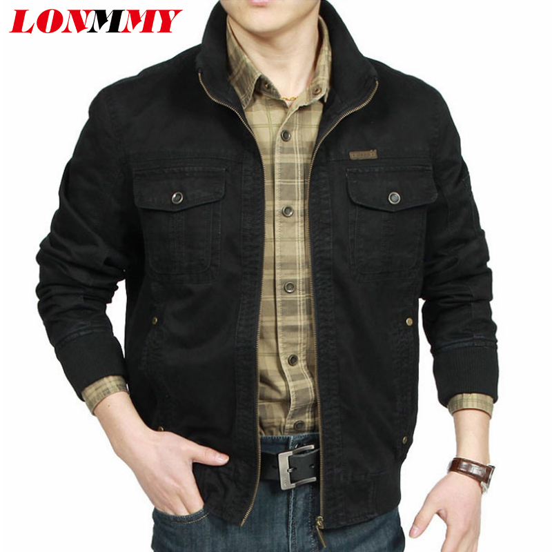 LONMMY Coats & Jackets mens Cotton Jaqueta masculina windbreaker Mens Clothing Military Jackets male Outerwear Army green 2018