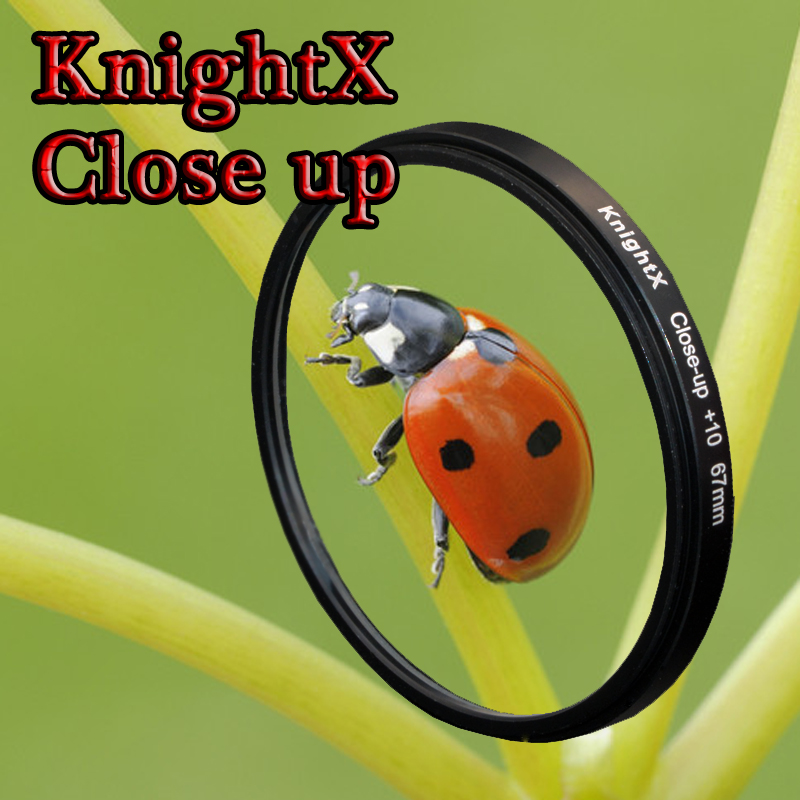 KnightX Close Up 49mm 52mm 55mm 58mm 67mm 77mm Macro lens Filter for Nikon Canon EOS DSLR go pro d5300 600d d3200 d5100 d3300 knightx 49mm 77mm lens cap 58mm 52mm 67mm center pinch cover for canon eos rebel free shipping d5300 d5200 d5100 d3200 d3300