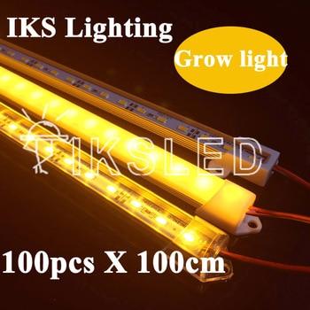 100pcs 1m 5730 grow light SMD5730 Hydroponic Systems Led Plant grow light Led Grow Strip Light Full specture Grow Box фото