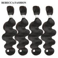 Rebecca Brazilian Remy Body Wave Bulk Human Hair For Braiding 4 Bundles Free Shipping 10 To