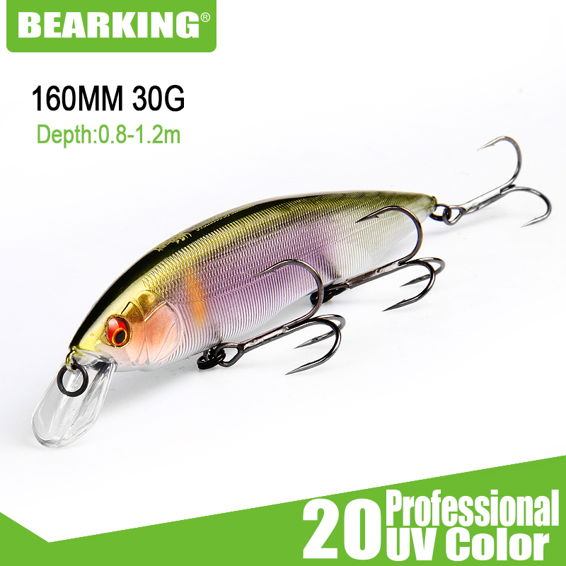 BEARKING 160mm 30g New 2019 Hot Fishing Lures, Assorted Colors, Minnow Crank ,Tungsten Weight System Wobbler Model Crank Bait