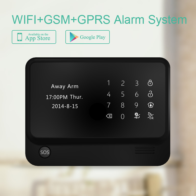 433mhz G90B PLUS GSM Alarm System APP Remote Control Smart Home Intelligent GSM GPRS SMS Wifi Alarm panel gsm wifi alarm host 433mhz gsm wifi home alarm system touch lcd panel alarm system support doorbell function gsm wireles alarm system