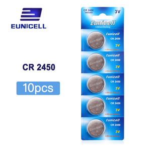10pcs/Lot=2pack CR2450 2450 ECR2450 KCR2450 5029LC LM2450 Button Cell 3V lithium Battery Coin watch Battery , Cosmosnewland(China)