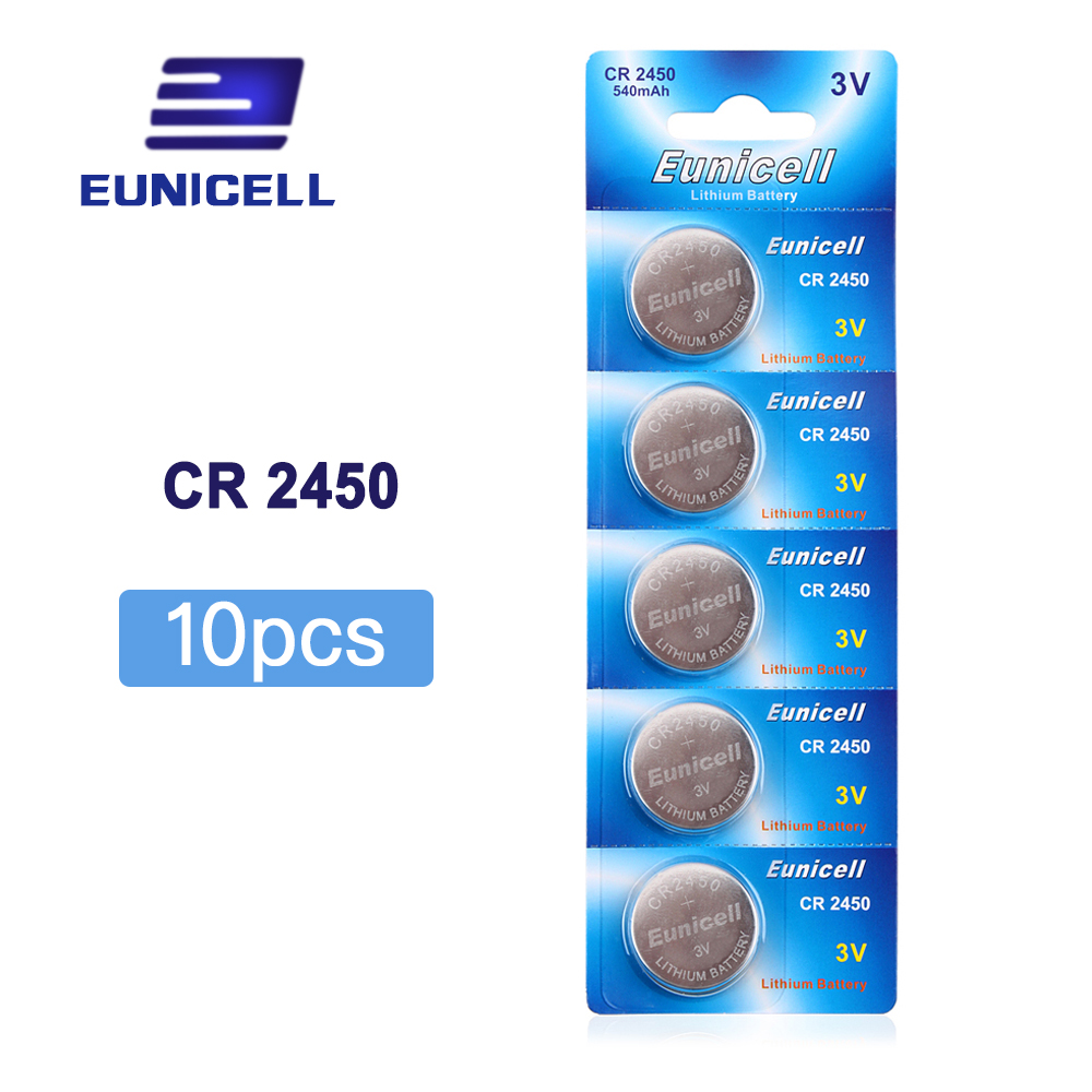 10pcs/Lot=2pack CR2450 2450 ECR2450 KCR2450 5029LC LM2450 Button Cell 3V Lithium Battery Coin Watch Battery , Cosmosnewland