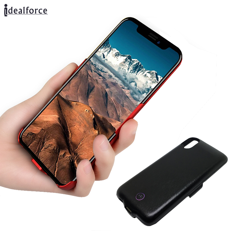 For iPhone X Battery Case , Plaid Portable Extended Charger Cases Fast Charging Case Cover with 5500mAh Capacity Extra Battery