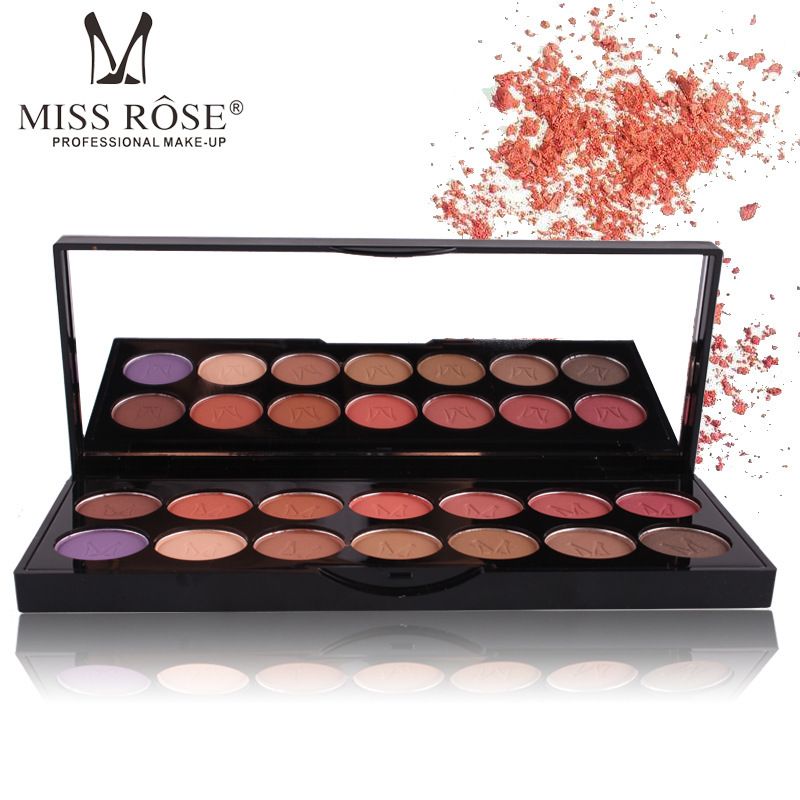MISS ROSE 14 Colors Eyeshadow Palette Pigmento Maquiagem Eye