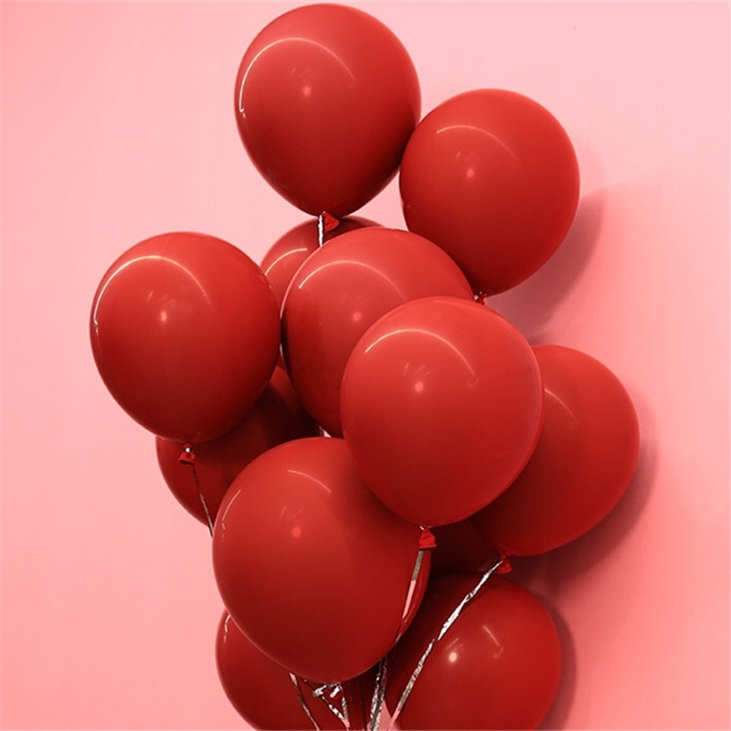 Us 3 5 22 Off 10pcs Double Latex Balloons Red Ballons For Diy Wedding Birthday Bridal Shower Decoration Party Supplies 1pc Red 1pc Black Red In