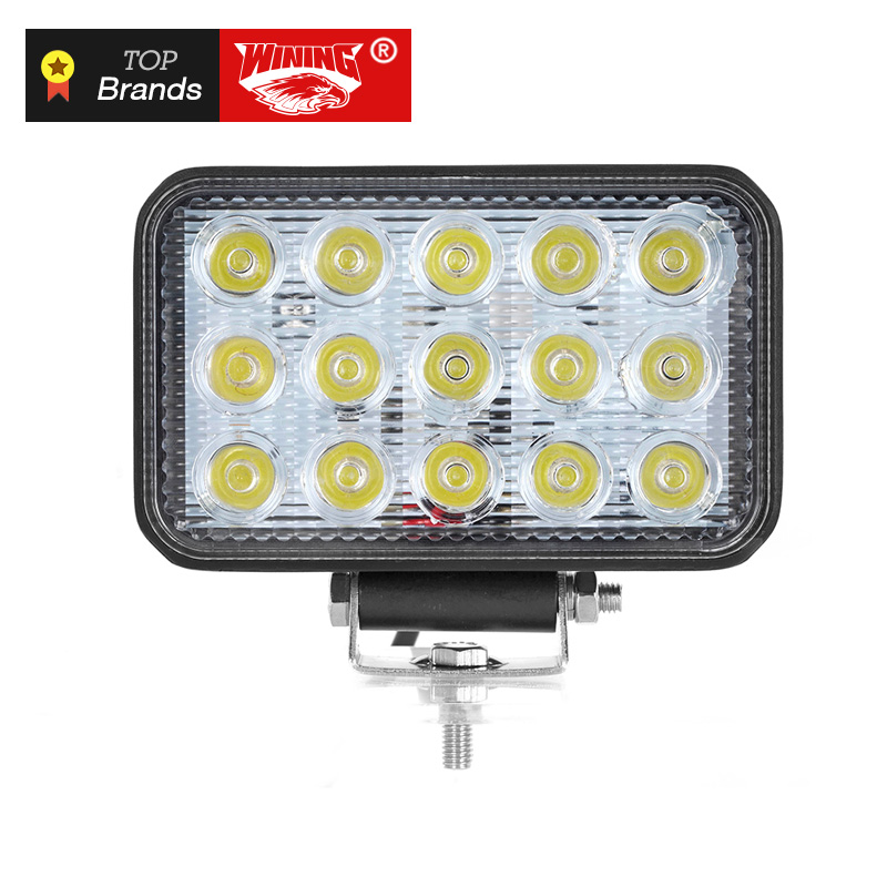 WINING Brand 12V 45W LED Work Light 6 inch Square Driving Work Lights ATV SUV Motorcycle Boat SUV Spot Beam Led Offroad Light