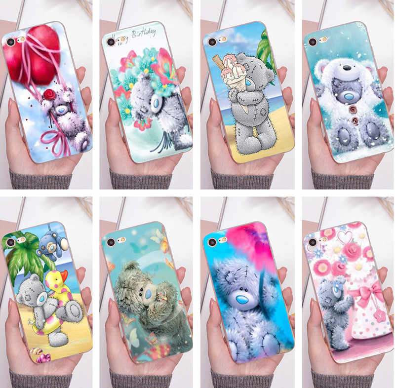Siliconen telefoon geval voor 6 plus case Tatty Teddy Ik Je Beer Soft Phone case Covers Voor iPhone 5 s 6 s 7 8 plus XR XS XSMAX gevallen