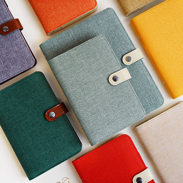 Yiwi A5 A6 Kleur Doek Materiaal Cover Notebook Snap Planner Journal Organisator Bindmiddel Briefpapier