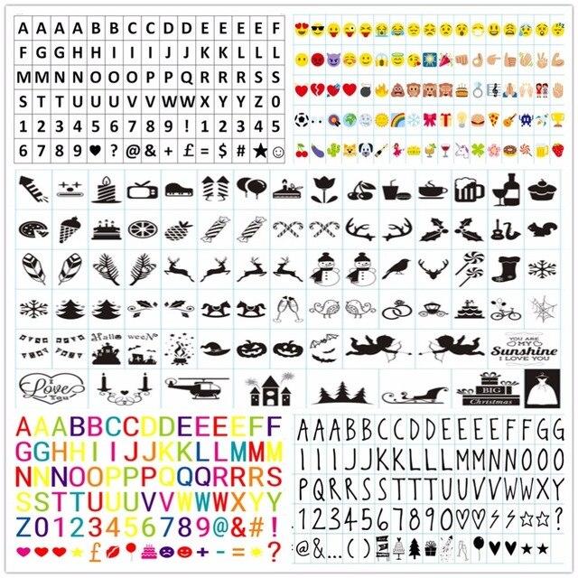 A4 FÜHRTE Licht Box A5 Symbole Zeichen Buchstaben Karten Garten ...