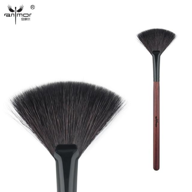 Anmor козьей шерсти вентилятор Кисточки высокое качество составляют Расчёски для волос для ежедневного или профессиональной Макияж