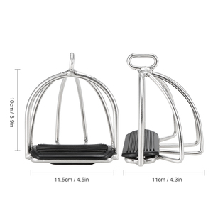Image 4 - Produits de soins cheval, Cage antidérapante 2 pièces, étriers déquitation en acier flexible, équipement de sécurité pour pédale cheval