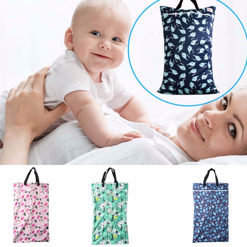 Reusable Waterproof Pail Bag Handles Pail Liner Cloth Bag For Nappy Insert PUL Large Wet Bags