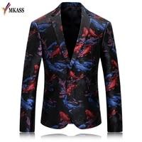 MKASS Fashion Brand Men Velvet Blazer Jacket Designs Slim Fit Plus Size M 4XL Casual Carp