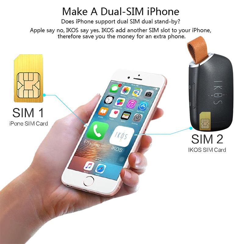 две SIM-карты с Bluetooth адаптер для айфон с двумя активными микро-мобильные сим-карты, поддержка для iPhone/iPad/док в том числе анти-потерянный ключ