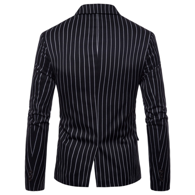 FFXZSJ Men 2018 Brand Fashion Single Button Suit Jacket Cotton Slim Fit Men Stripe Suit Coats Business Wedding Plus Size 4XL