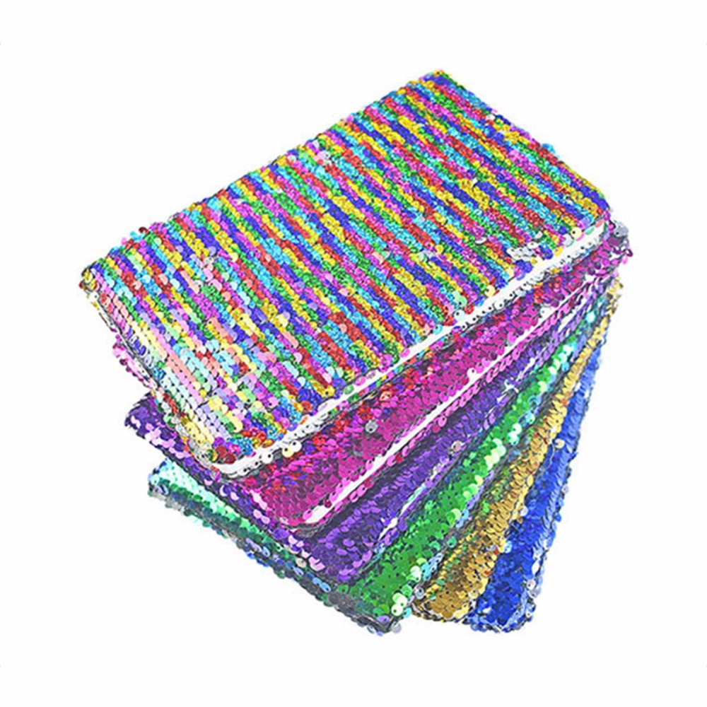 Cover Everyday Notebook Supplies Student Stationery Creative Stationery Squama Fish Sequins Handwritten DIY Notebooks silicone jigsaw pattern cover creative notebook red white green purple