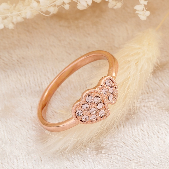 Schön Hear Ring For Valentineu0027s Day Gift Rose Gold Ring Bijoux Bagues Femme  Lovely Women Ring Jewelry
