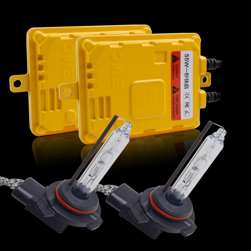 Kit de Ballast mince xénon 12 V 55 W Kit de Conversion xénon HID rapide lumineux 9012 (HIR2) 5500 K 6500 K kit xénon HID pour phare de voiture